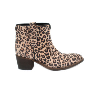Stivaletto AME 517 ISABEL H50 Camoscio stampa animalier color taupe