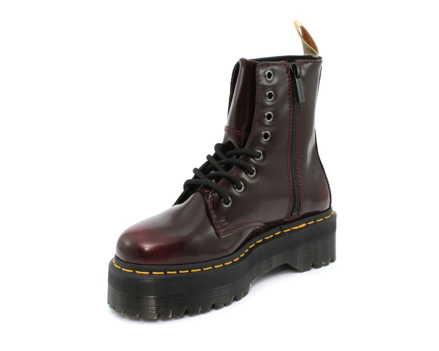 Anfibio DR MARTENS VEGAN JADON II CHERRY RED CAMBRIDGE BRUSH