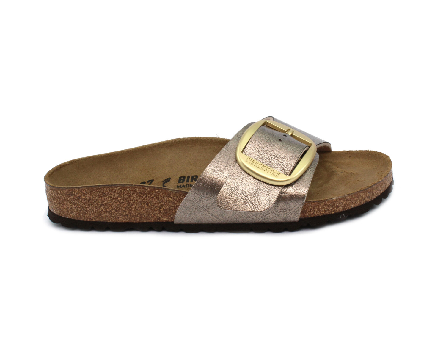 Slipper BIRKENSTOCK 1016237 Madrid Big Buckle graceful taupe Birko Flor
