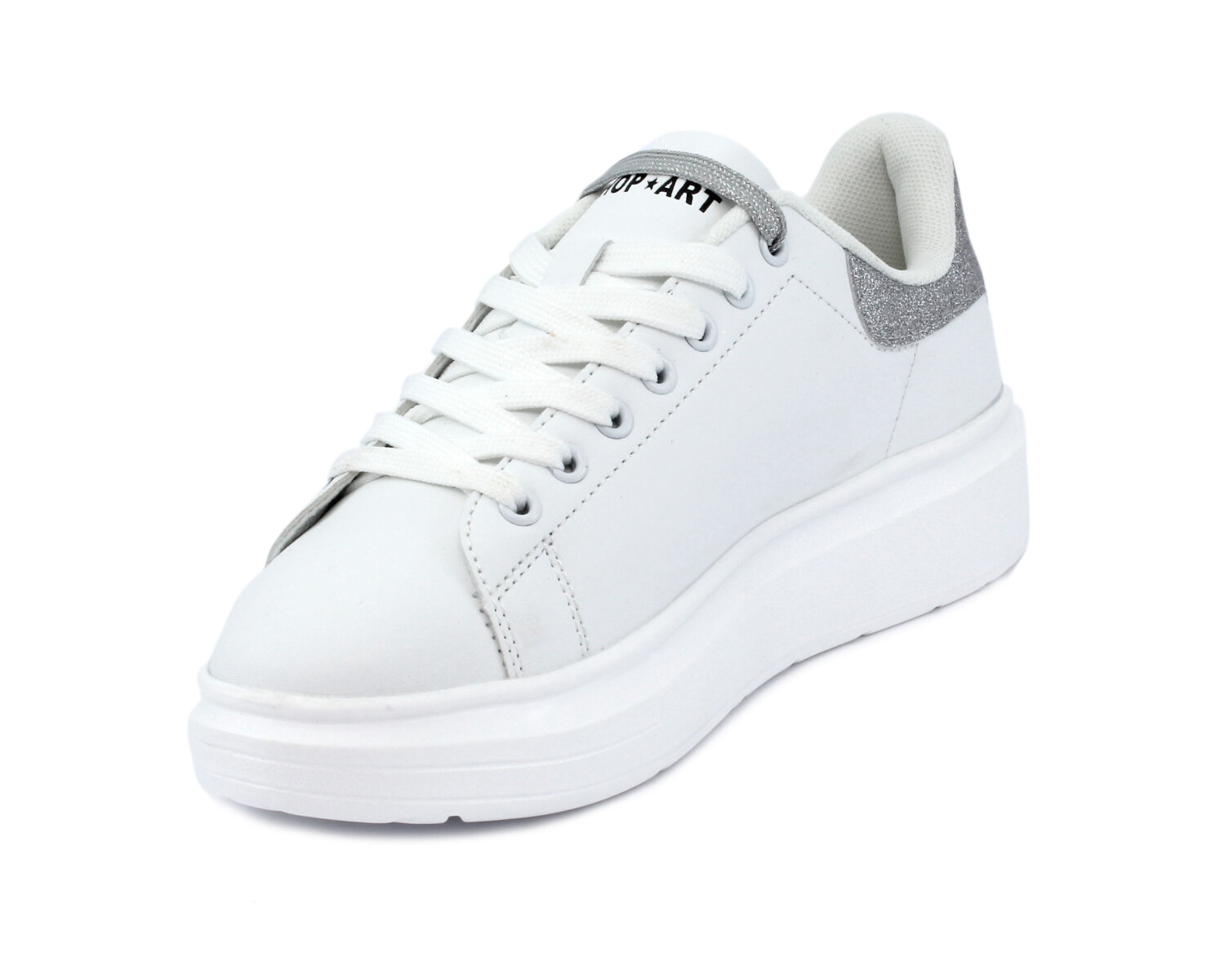Sneaker SHOP ART 030004 WHITE/SILVER